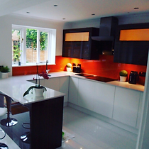 TPM Property Services - We transformed this home and gave it a modern open plan feel, by removing a dividing wall and installing this new kitchen
