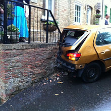 TPM Property Services - car drove into a house destroying the steps leading to the property