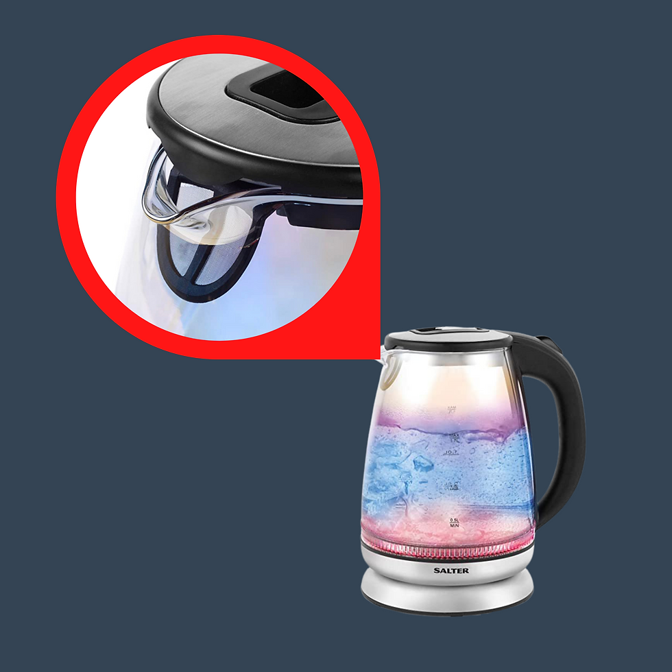 Limescale filter on kettles for hard water