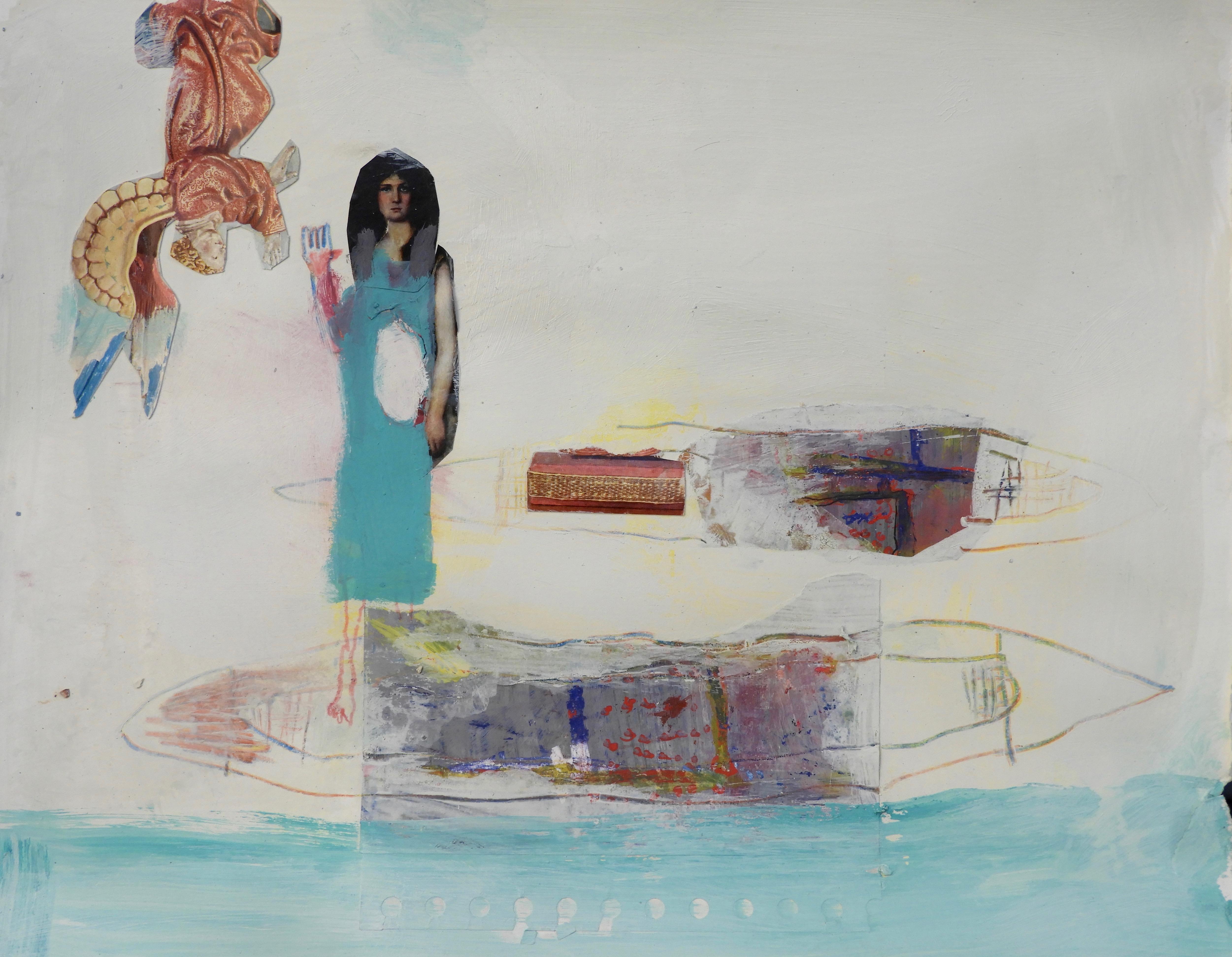 Ange, femme et barque