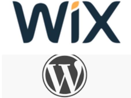 Building A New Website? WIX vs Wordpress