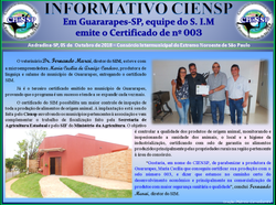 INFORMATIVO CERTIFICADO 003 GUARARAPES