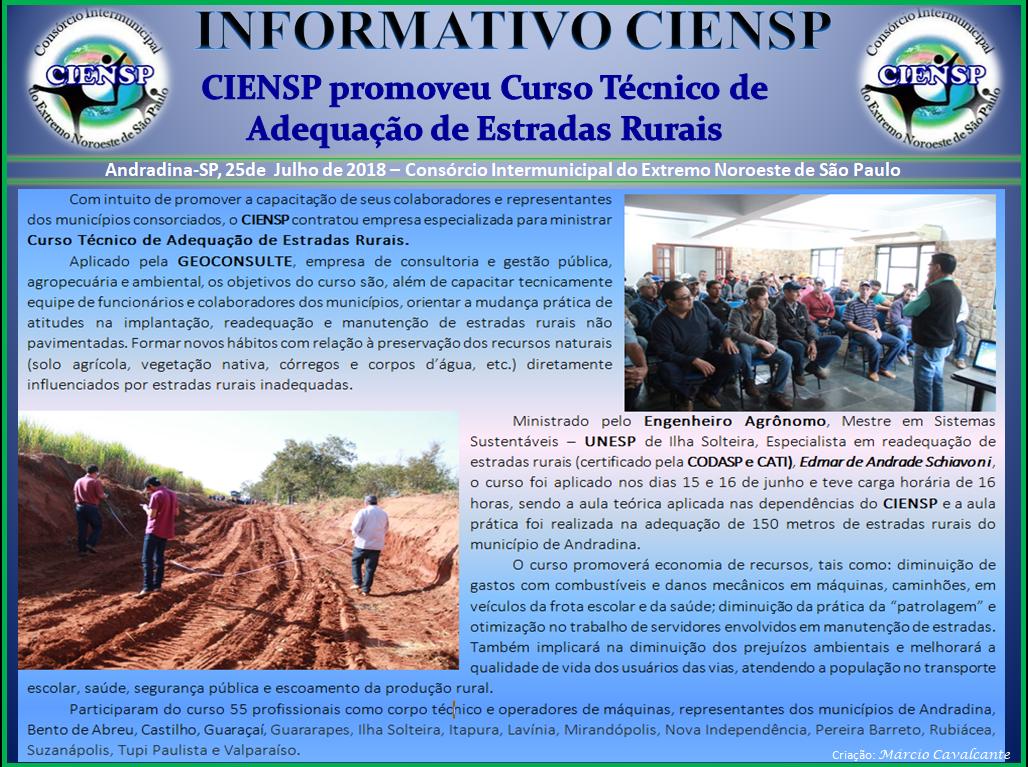 INFORMATIVO CURSO ESTRADAS