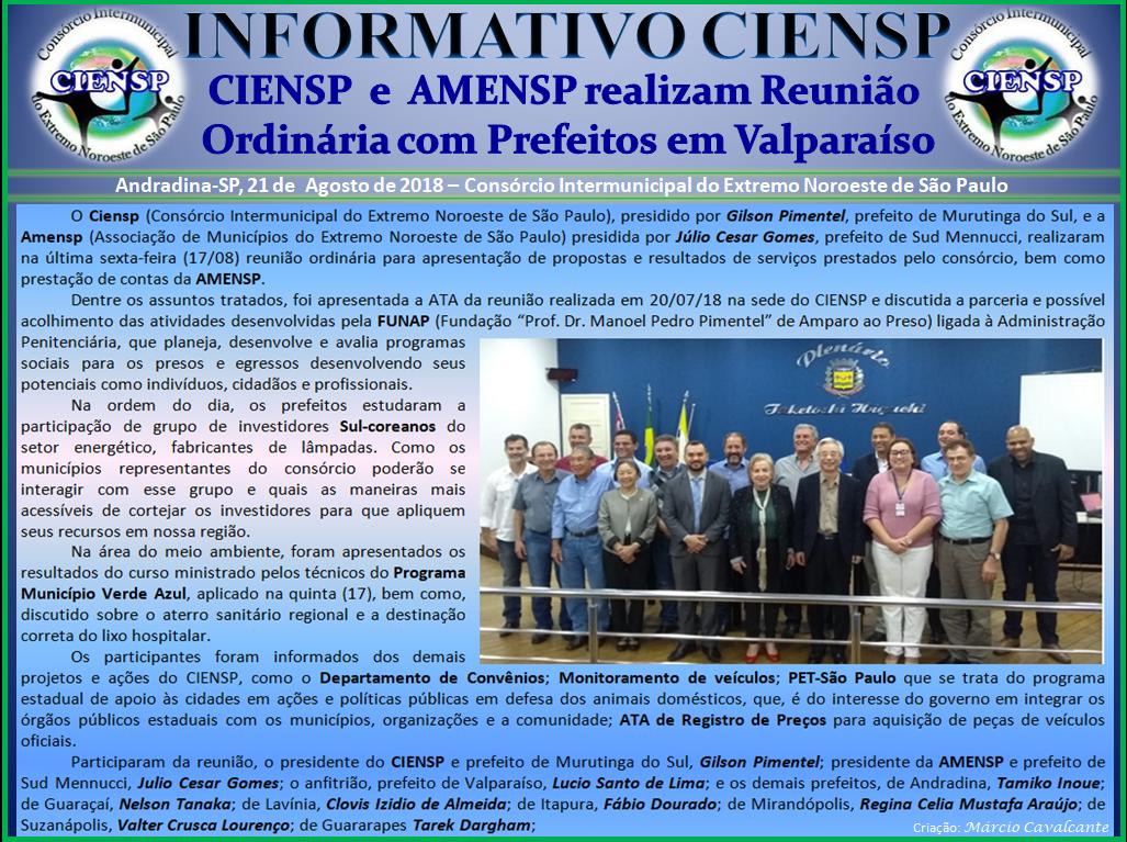 INFORMATIVO_REUNIÃO_PREFEITOS_AGOSTO