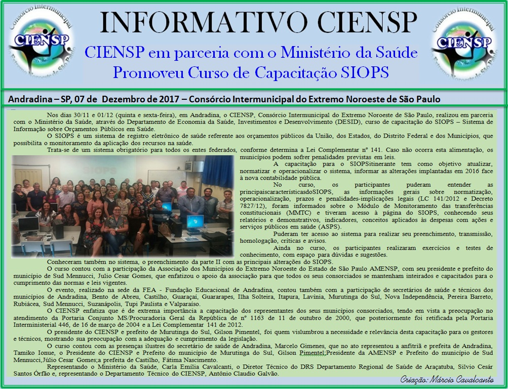 INFORMATIVO SIOPS