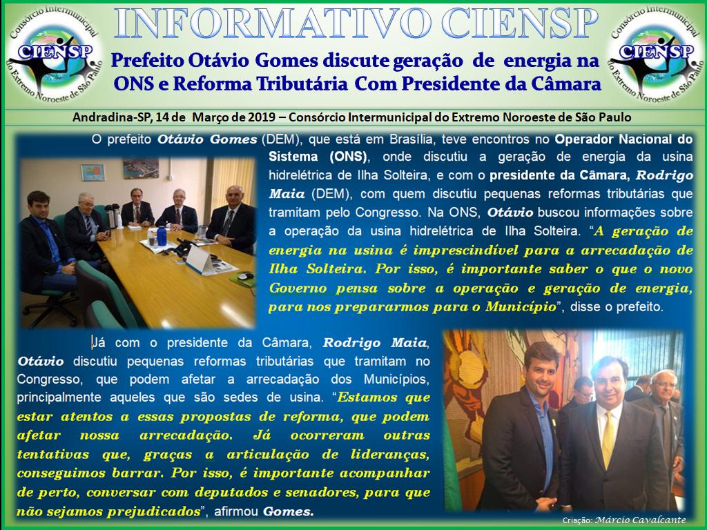 INFORMATIVO_OTAVIO_GOMES_EM_BRASÍLIA