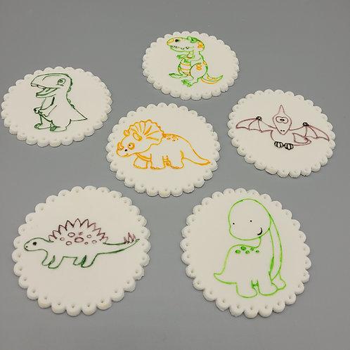 SSC Fondant Stamps - Dinosaur Collection