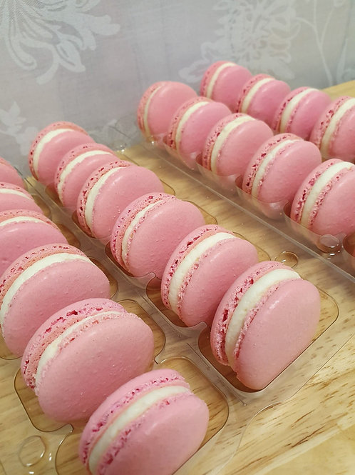 Box of 6 Baby Pink Macarons