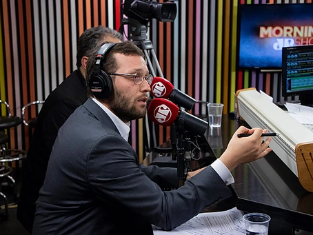 Deputado Filipe Barros participa o programa Morning Show, na Jovem Pan