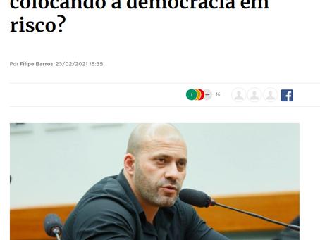 Filipe Barros denuncia o abuso do STF ao prender o deputado Daniel Silveira por causa de sua opinião