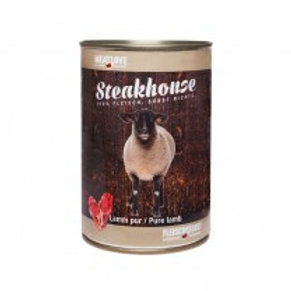 Steakhouse Tinned Pure Lam 410 gr