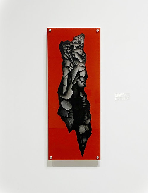 """Introspect, Red"" HD Acrylic Glass w/Stainless Mounting Posts"