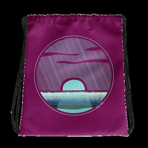 Ocean Ripples Drawstring Bag