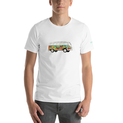 Microbus Flowers Short-Sleeve Unisex T-Shirt