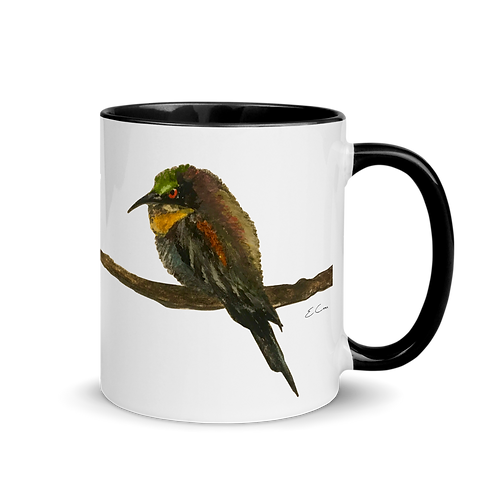 Finch on a Branch Coffee Mug | 2 Color Choices