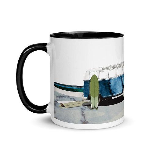 Microbus Surf Scene Coffee Mug