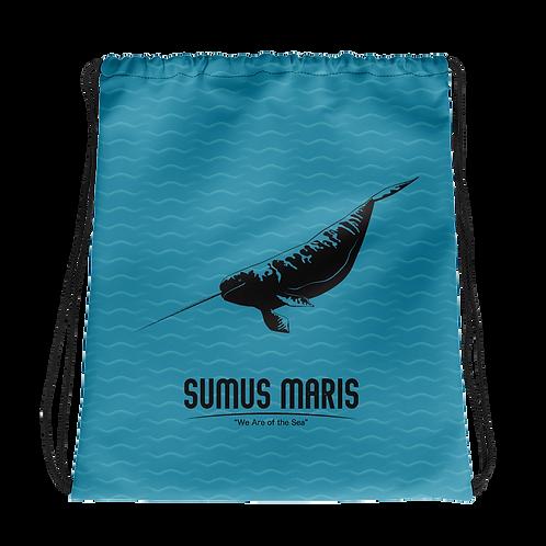 Sumus Maris Narwhal Drawstring Bag