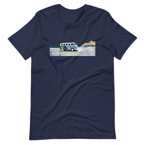 Vintage Bus Surf Scene Short-Sleeve T-Shirt