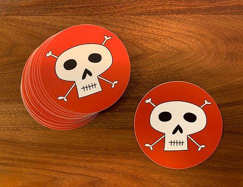 """Happy Skull & Bones  (4""""x4"""")"""