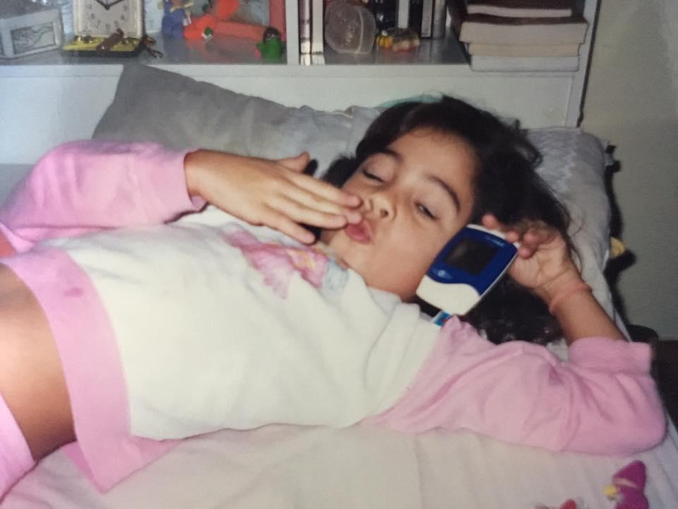 Eu com 6 anos