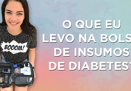 Quais insumos de diabetes eu levo na minha bolsa?