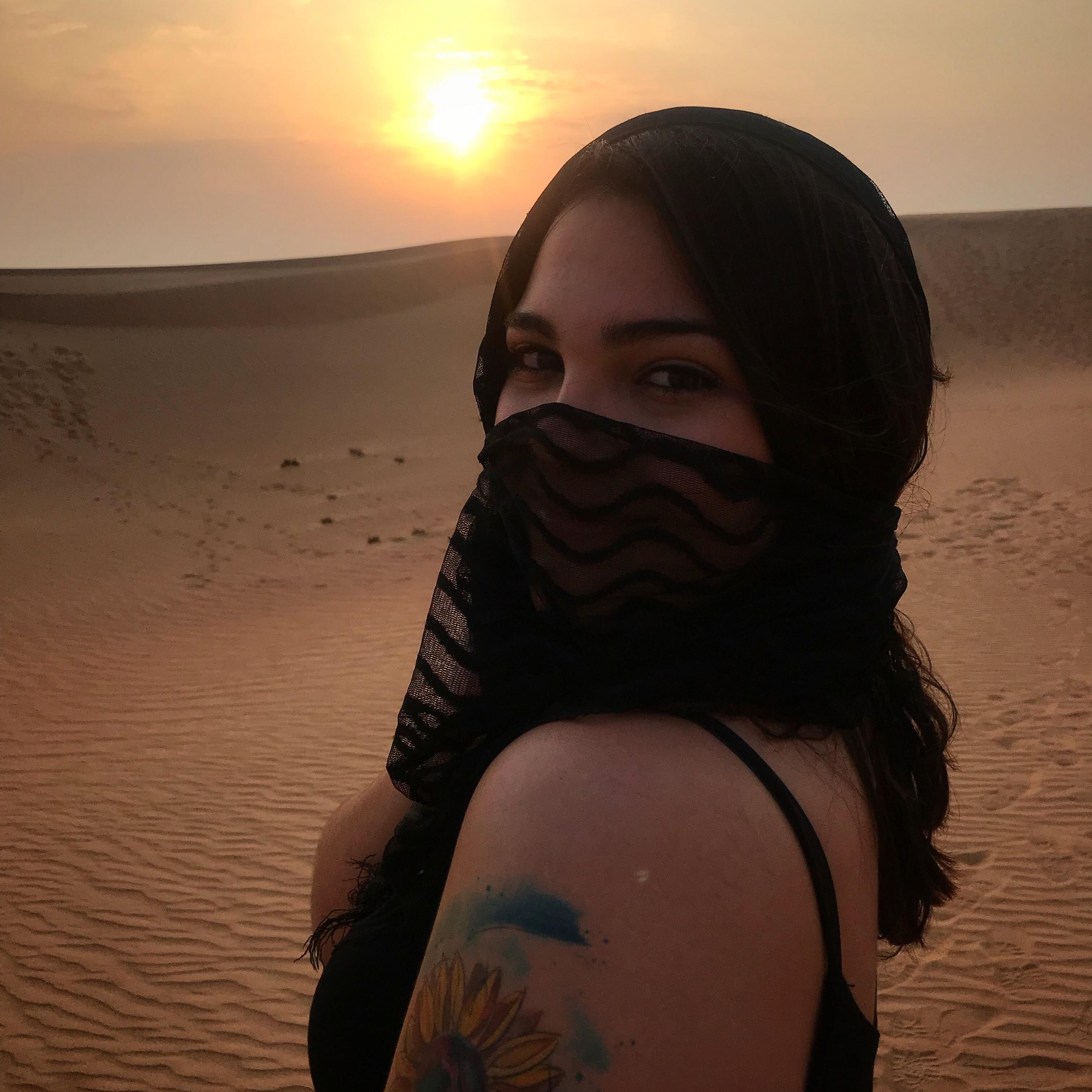 No deserto de Dubai