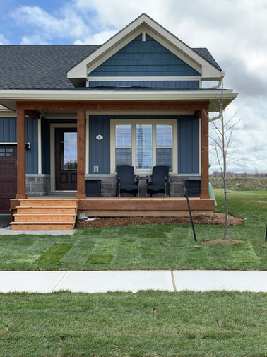 Deck, Sod, Tree, Mulch completed by Harvey Design and Build.