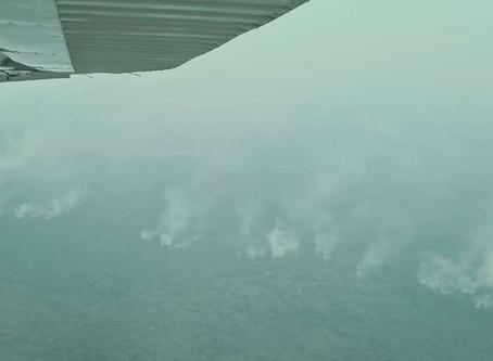 Cuatro aeronaves intentarán apagar el fuego en Copaibo
