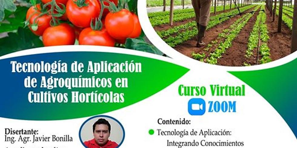 """CURSO """"TECNOLOGÍA DE APLICACIÓN DE AGROQUÍMICOS EN CULTIVOS DE HORTALIZAS"""""""