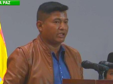 Arce destituye a Wilson Cáceres y posesiona a nuevo ministro de Desarrollo Rural