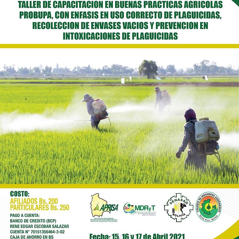 """TALLER DE CAPACITACION EN BUENAS PRACTICAS AGRICOLAS """"PROBUPA"""""""