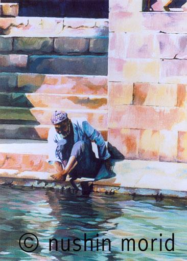 Rituelle Waschung am Ganges