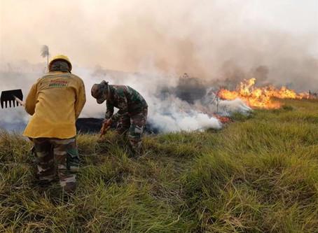 Áñez se traslada a la Chiquitania y oficializa anulación del decreto que autoriza las quemas