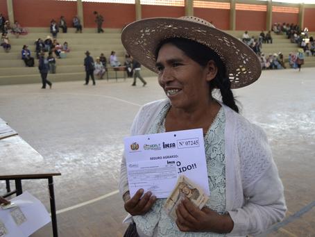 Seguro Agrario indemnizó con Bs 150 millones a los pequeños agricultores del país