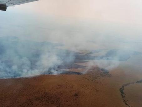 Controlan incendio en el Parque Otuquis, pero ya devastó 2.283 Ha