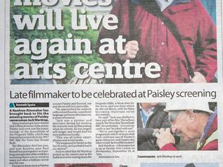 Retrospective of Paisley Filmaker Jack Wardrop.