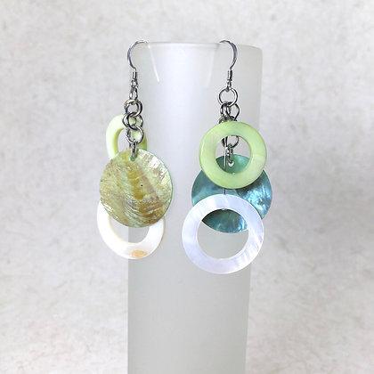 Lime/Aqua Earrings