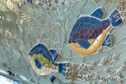 Detail of Bluegills, backsplash project