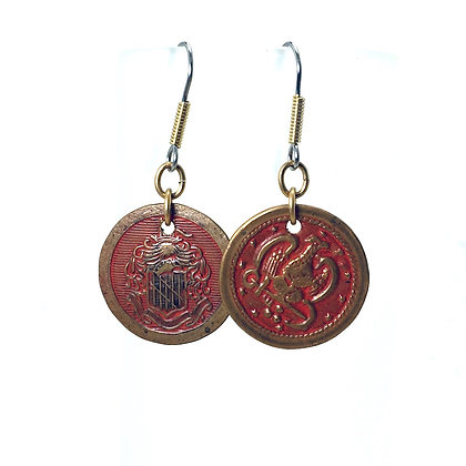 Red Eagle Earrings
