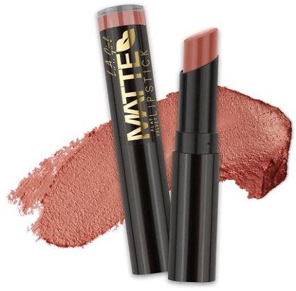 Matte Flat Velvet Lipstick - Snuggle