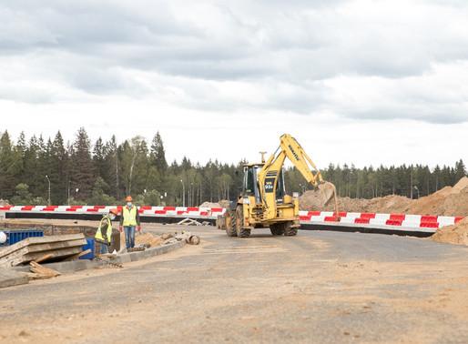 Новую трассу протяженностью 4,7 км строят в Солнечногорске вблизи завода «Мерседес»