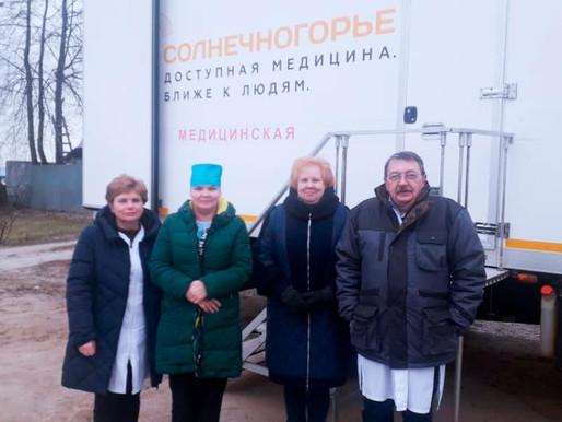 Жители деревни Пятница прошли обследование в мобильной поликлинике