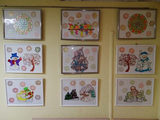 В Доме культуры «Лунево» открылась выставка витражных работ