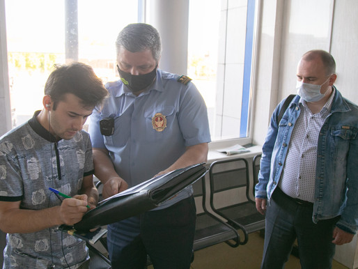 Рейд по соблюдению масочного режима провели на автовокзале в Солнечногорске