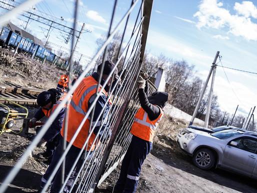В Солнечногорье ликвидируют несанкционированные переходы через железнодорожные пути