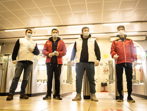 Солнечногорские волонтеры контролируют соблюдение масочного режима на транспортных узлах
