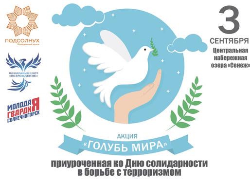 В Солнечногорске пройдет акция «Голубь мира»