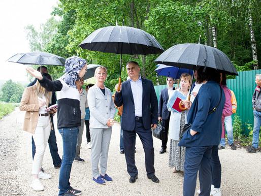 В городском округе Солнечногорск ремонтируют подъездные дороги к СНТ