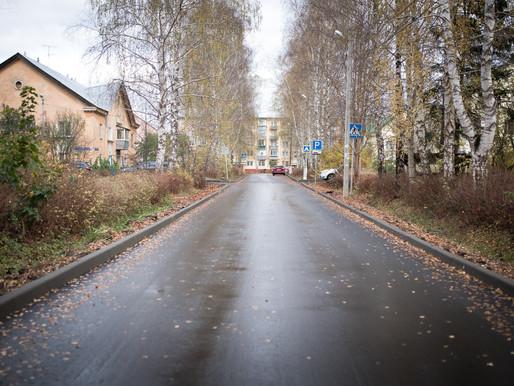 В Ложках завершили ремонт дорог микрорайона Военный городок