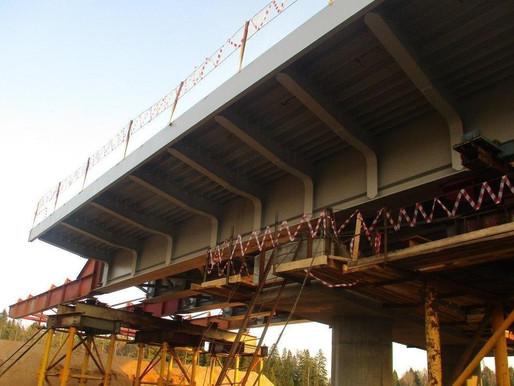 В Солнечногорске завершена надвижка пролетного строения путепровода через Ленинградское шоссе